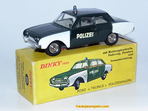 Dinky Toys France Taunus 17M polizei
